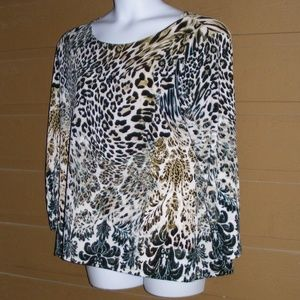Chico's Tops - CHICO'S Travelers Top, 3/XL Animal print, LS